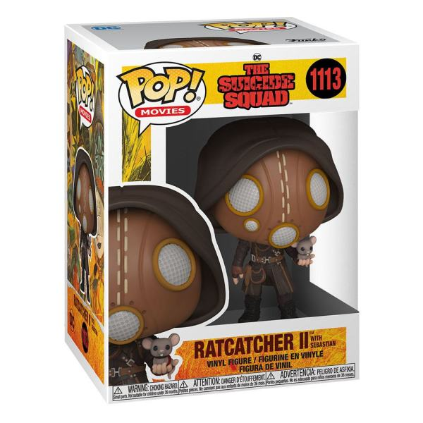 x_fk56018 The Suicide Squad Funko POP! Movies Vinyl Figura - Ratcatcher II w/Sebastian 9 cm