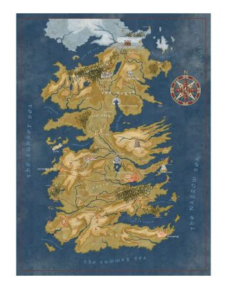 x_daho3003-433 Game of Thrones Puzzle Cersei Lannister Westeros Map 1000 db-os