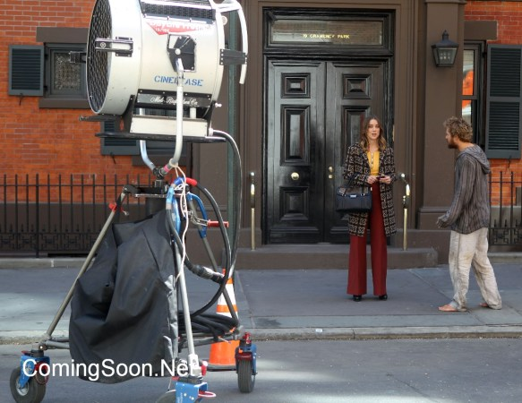 "NEW YORK, NY - APRIL 19: Jessica Stroop, Finn Jones filming Marvel/ Netflix's ""Iron Fist"" on April 19, 2016 in New York City. (Photo bySteve Sands/GC Images)"