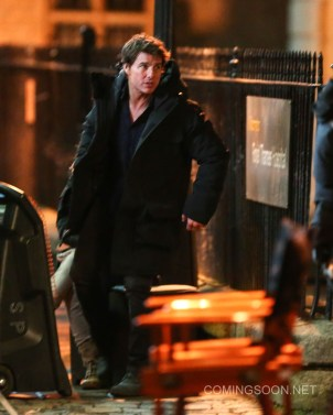 "Tom Cruise and Annabelle Wallis film a scene for the movie ""The Mummy' in Oxford Featuring: Tom Cruise Where: Oxford, United Kingdom When: 06 Apr 2016 Credit: WENN.com"