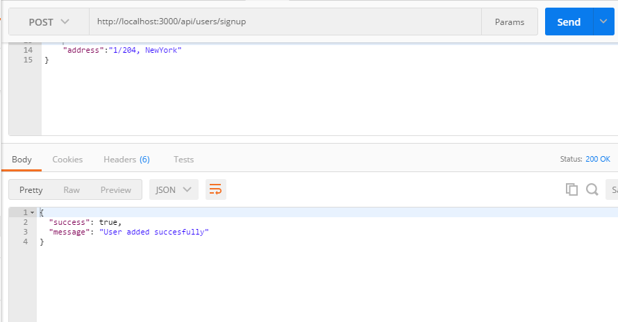 http:RESTfulAPI-node-Express_mysql-user-Register-Response-Message