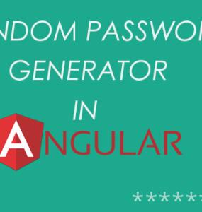 Random Password Generator With AngularJS