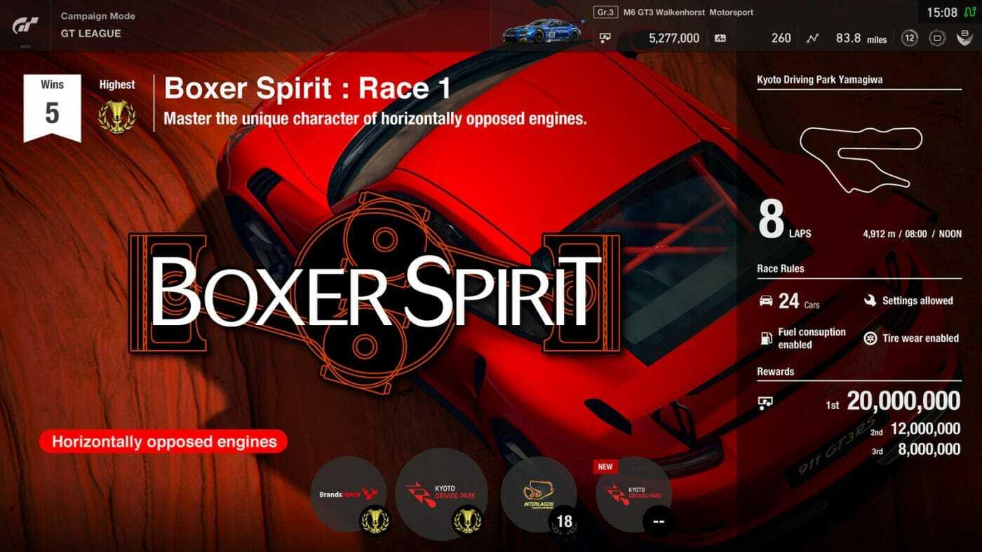 GT Sport Red Boxer Spirit League
