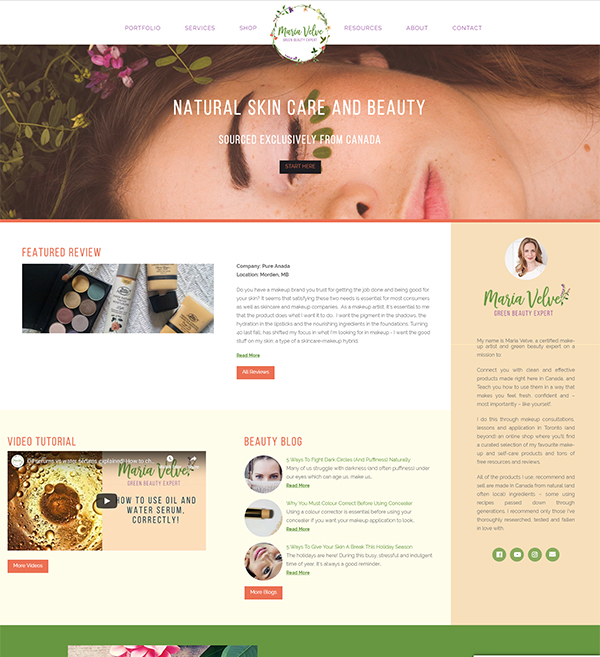 Green Beauty Expert Website