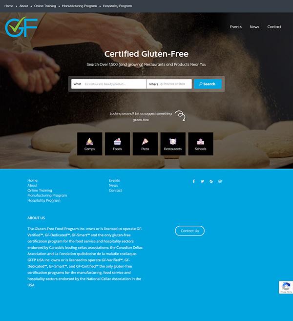 Gluten-Free Finder Website