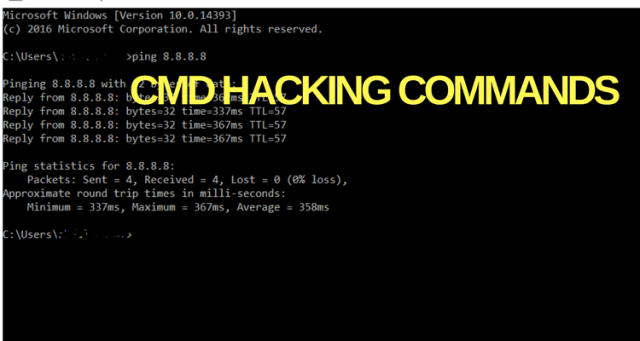CMD Commands for Hacking