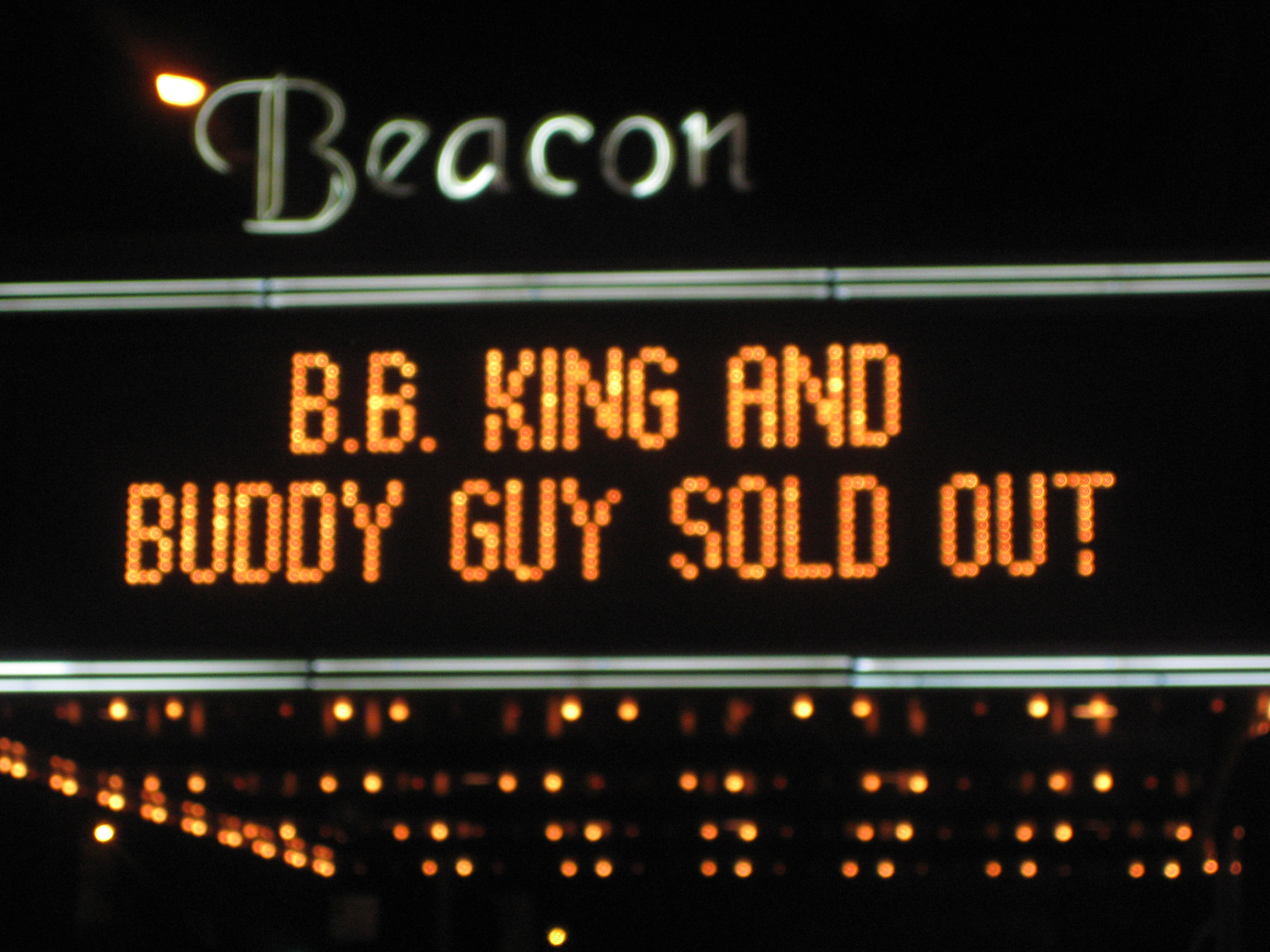 BB King Buddy Guy Beacon Theatre