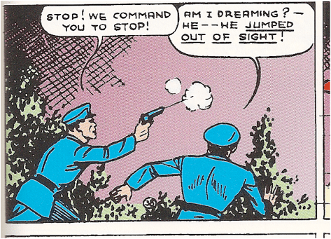 """Image from """"Action Comics"""" #8 written by Siegel and illustrated by Shuster."""