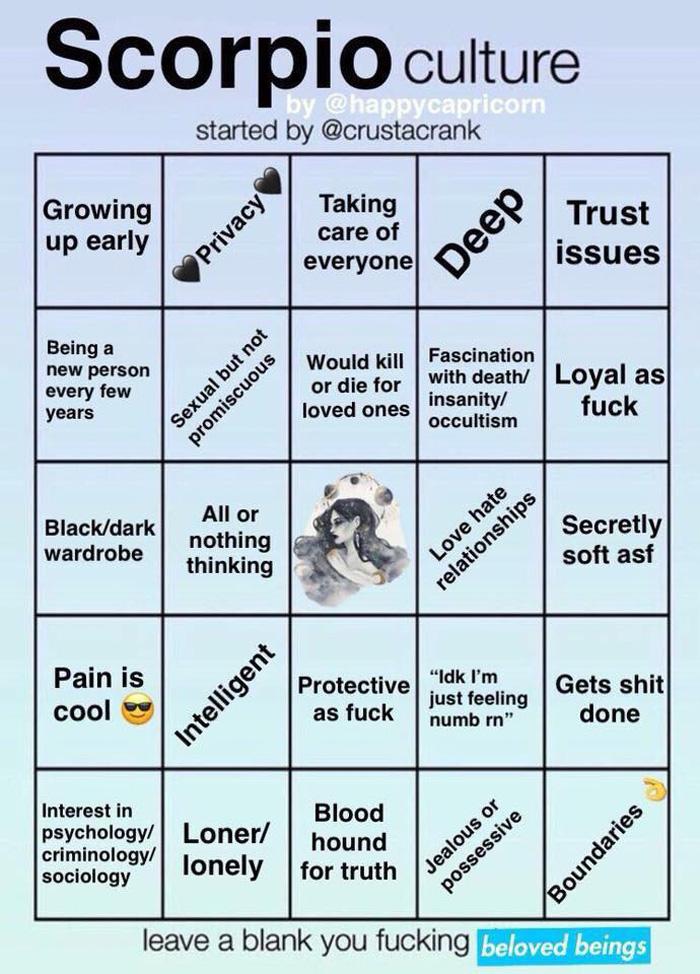 Zodiac Bingo