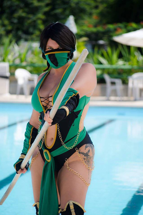 Jade From Mortal Kombat 9 Cosplay