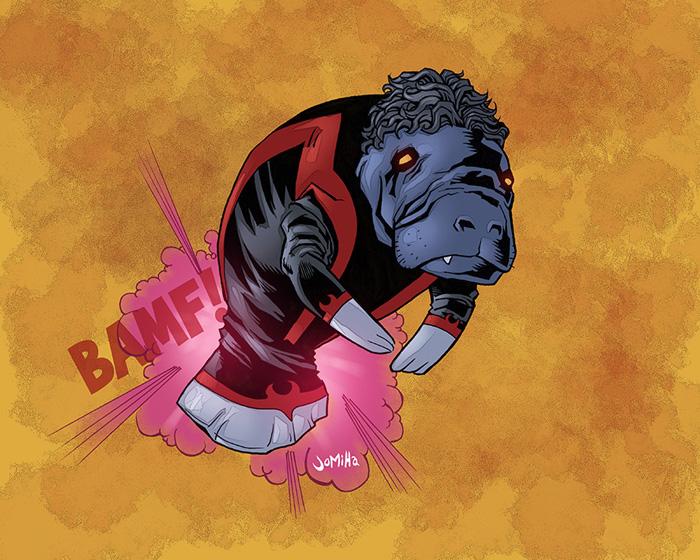 Marvel Manatees Fan Art