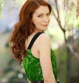 Felicia Day green dress
