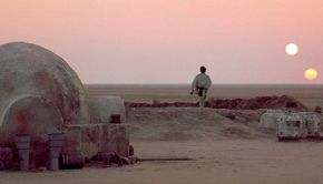 Star Wars Tatooine two suns