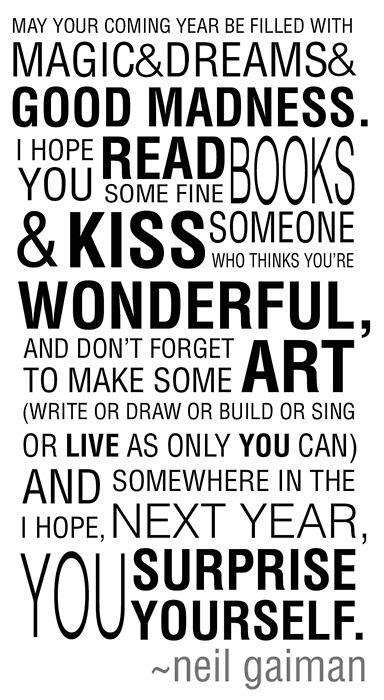 New Year Quotes by Neil Gaiman – Geeky 247