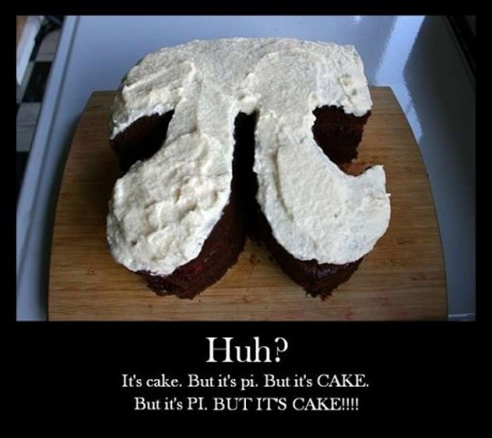 It's cake, but it's pi.