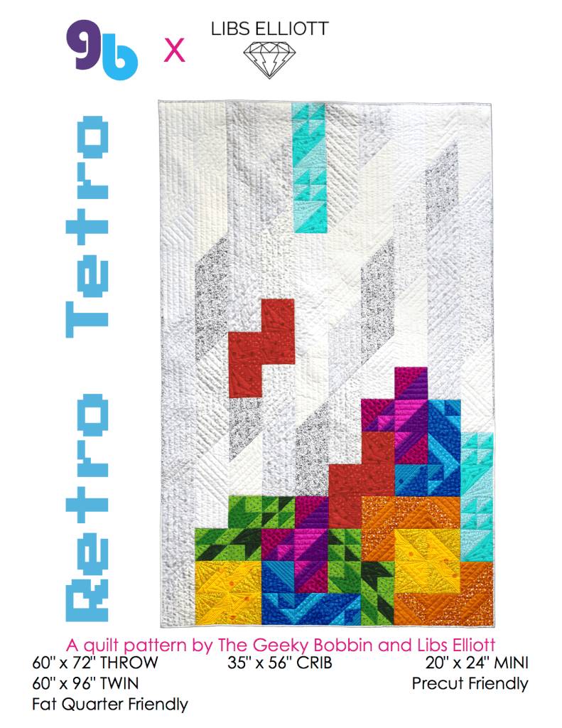 Retro Tetro Quilt Pattern front cover