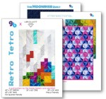 3 modern geometric quilt patterns by geeky bobbin