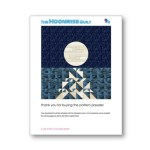 Moonrise quilt pattern front cover by geeky bobbin