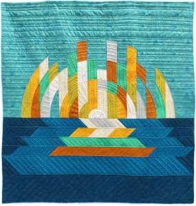 Daybreak quilt by geeky bobbin