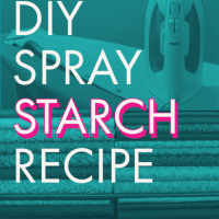 DIY Quilter's Spray Starch Recipe