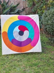 orbital quilt pattern by geeky bobbin. quilt made by Lynett Muhaso