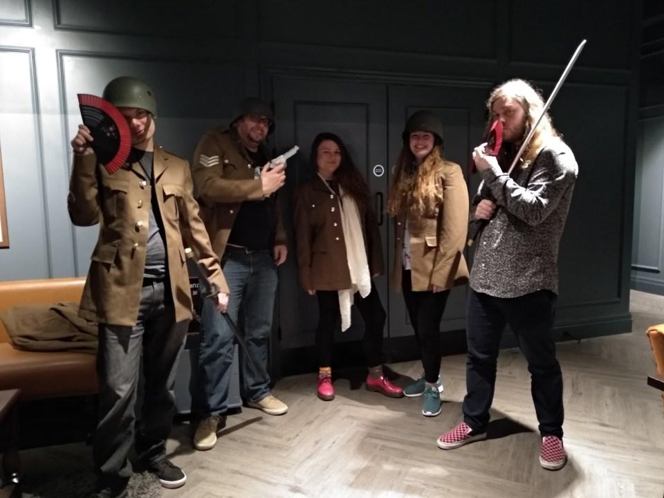 Team Geeky Brummie at Escape Hunt