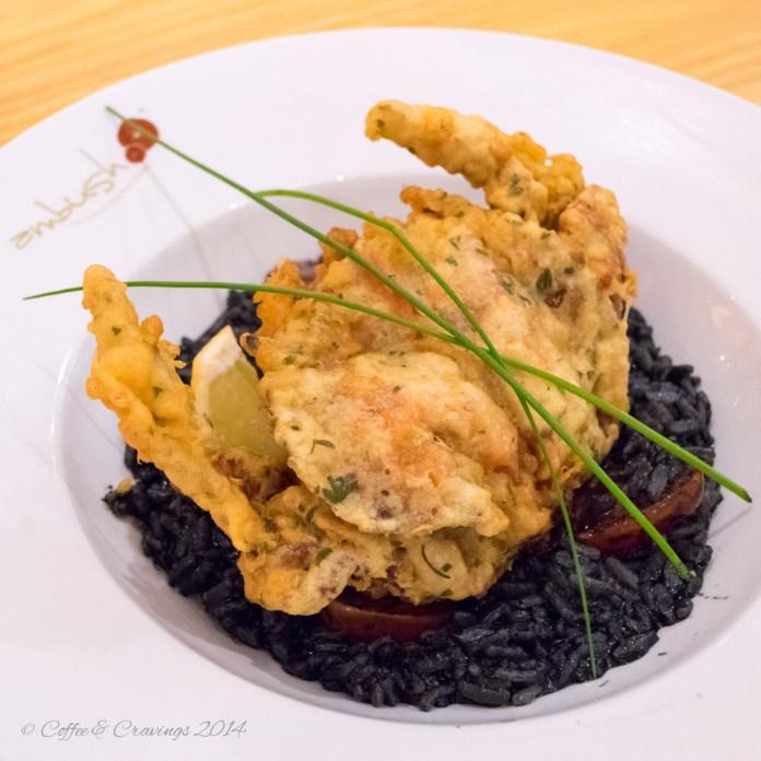 Ambush: Soft Shell Crab risotto