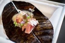 Savour 2015: Stellar@1-Altitude—Truffle Toro Miso… Tuna belly, truffled white miso, ginger flower.
