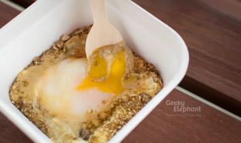 Savour 2015: Il Cielo—Slow cooked egg, Parmigiano foam, Foie Gras cream & Pumpkin Seeds