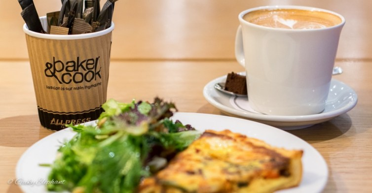 Baker & Cook: Salmon Quiche & Latte