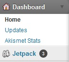 upgrade jetpack - dashboard