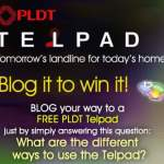 PLDT TELPAD: Blog It To Win It