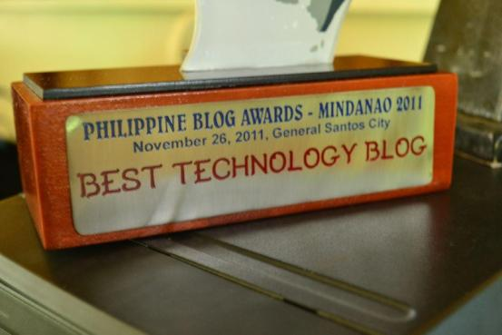 Philippine Blog Awards 2011 Trophy
