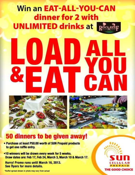 Sun Cellular Prepaid Load and Eat Promo