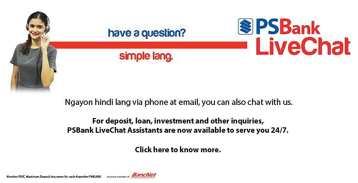 PSBank LiveChat Banking