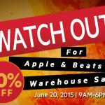 Warehouse sale on Apple and Beats