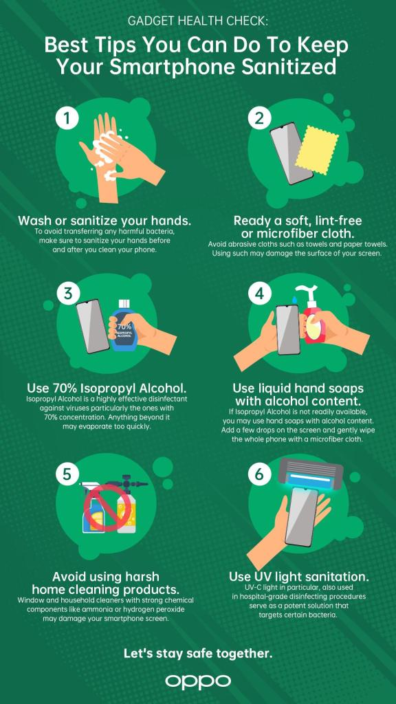 6 best tips to keep smartphone sanitation infographic