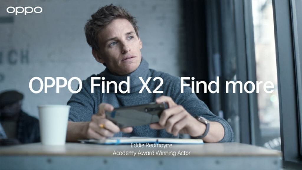 OPPO Find X2 Pro with Eddie Redmayne