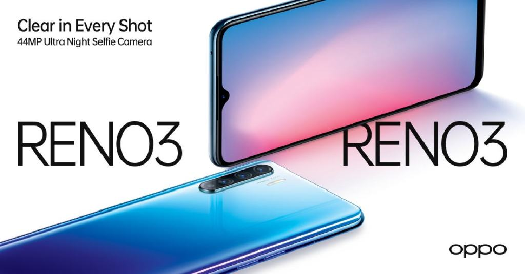 OPPO Reno3 44MP Ultra Night Selfie Camera