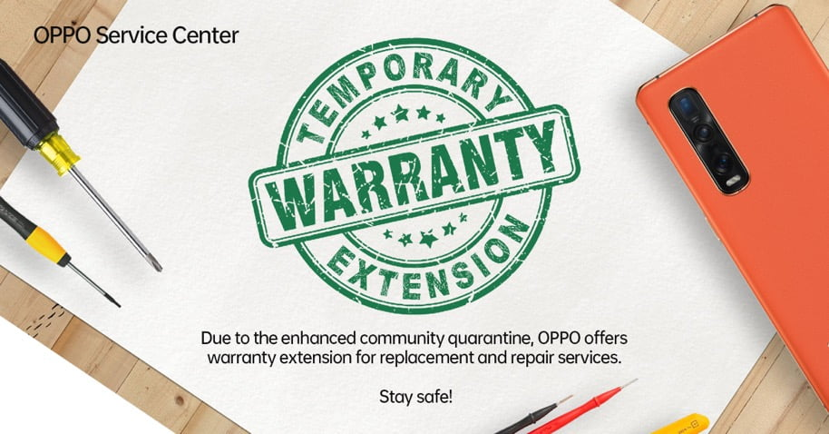 OPPO extends service warranty for all smartphone devices