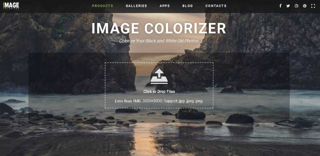 Image Colorizer App browser version