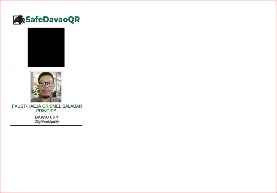 Safe Davao QR PDF Format