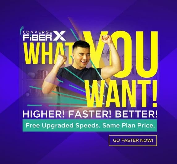 Free Internet Speed Upgrade from Converge FiberX