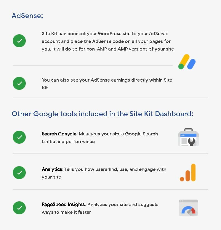Google Site Kit plugin for WordPress