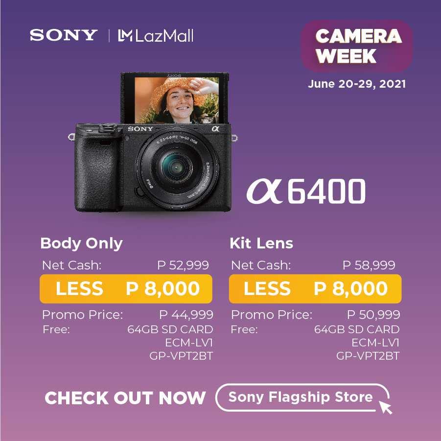 Sony Camera Week Deals - Sony A6400 8,000 Off