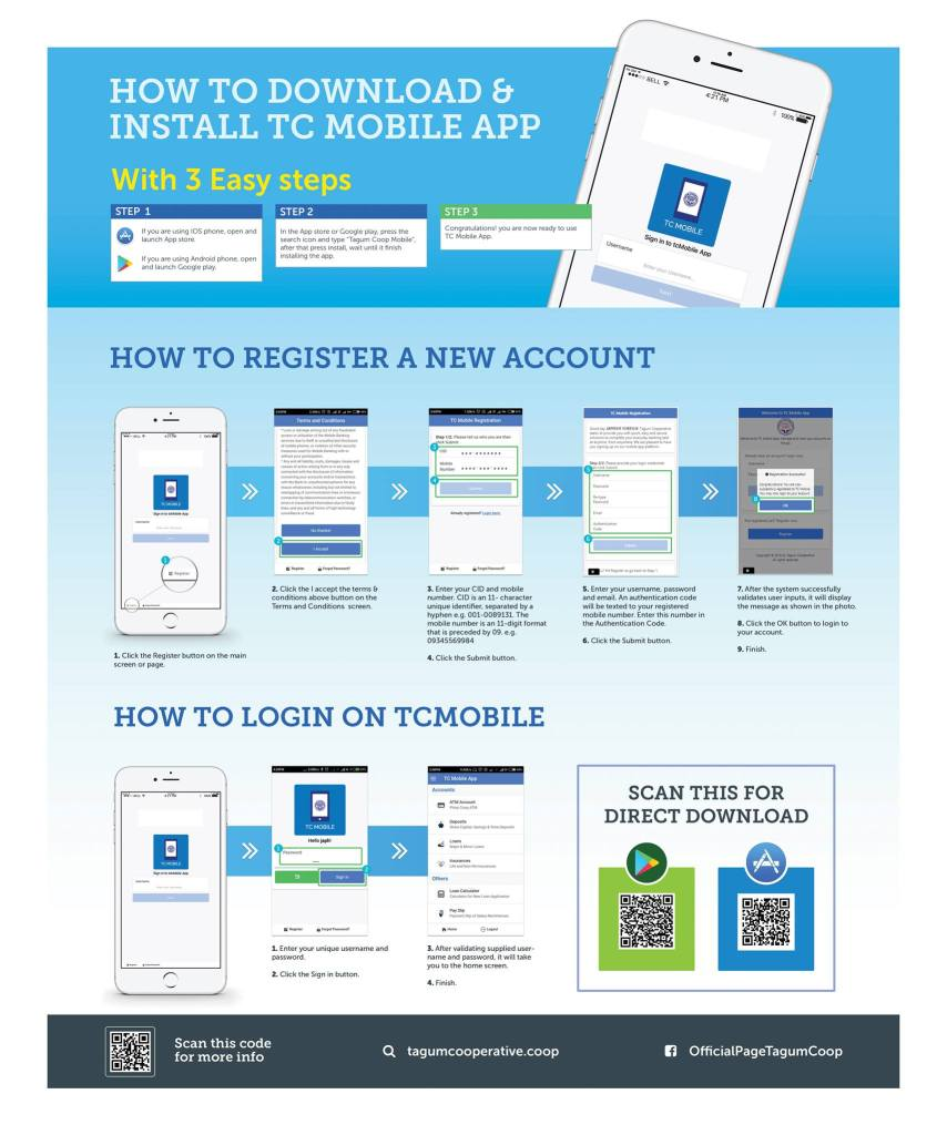 How to Download, Install, Register, and Login on TC Mobile App, Tagum Coop Mobile App.