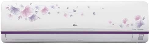 LG 1.5 Ton 3 Star Inverter Split AC (Copper, JS-Q18FUXD1, White Floral)