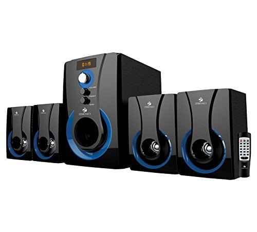 Zebronics SW3490 RUCF 4.1 Multimedia Speaker with Remote Control, cheap and best home theatre system in india