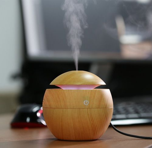 RYLAN Magic Wooden Cool Mist Humidifiers Essential Oil Diffuser Aroma Air Humidifier with Led Night Light Colorful Change for Car, Office, Babies, humidifiers for home, air humidifier for room