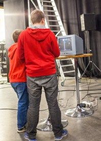 Kids attending Swedish Championships of Pong at Retro Gathering 2